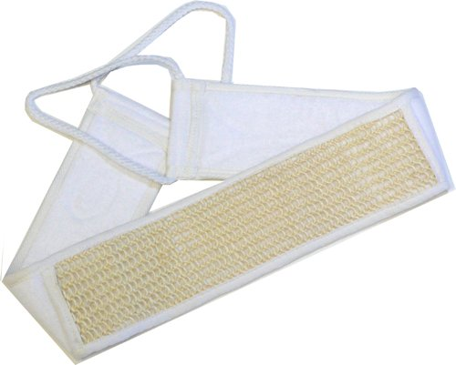 Sisal & Terry Cloth Back Scubber