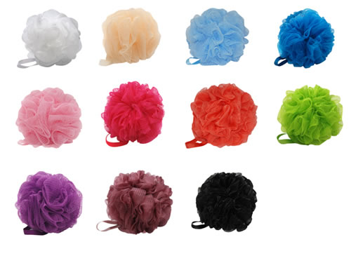 BathEssential Wholesale Bath Accessories Sponge Loofah Brush Interesting Mini Loofah Poufs